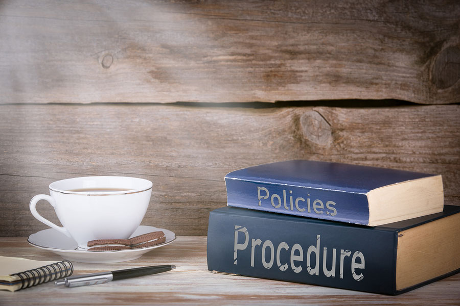 Policy and procedure books