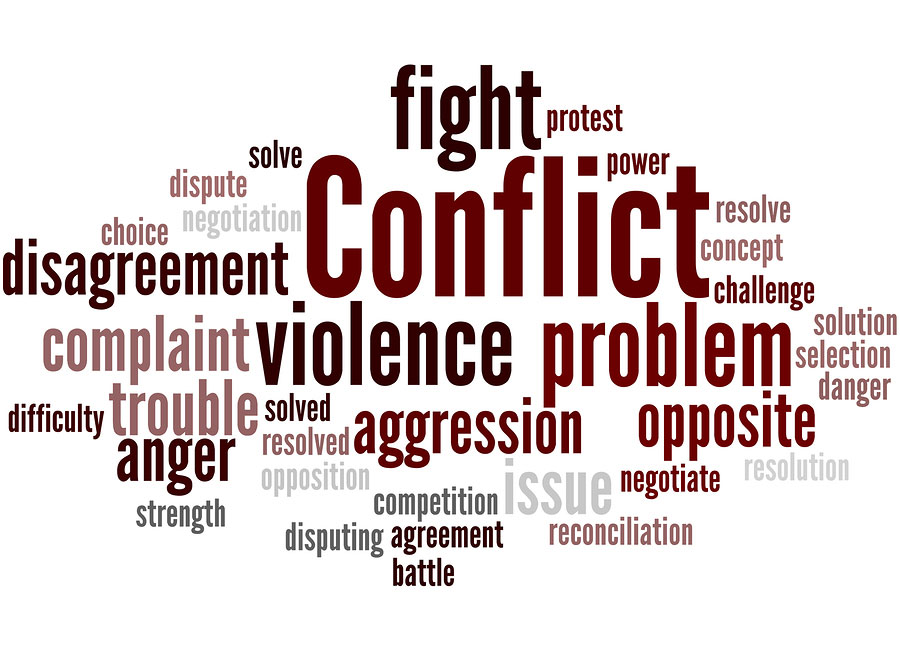 Word picture about conflict